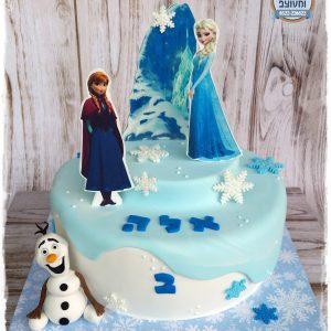 עוגת אנה ואלזה לאלה
