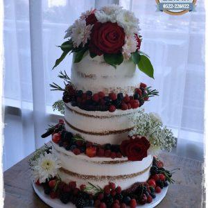 עוגת חתונה עירומה עם פירות יער תומר 1