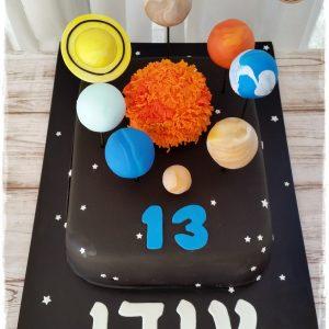 עוגת מערכת השמש בר מצווה