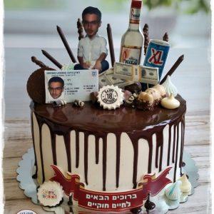 עוגת נזילות וממתקים לגיל 18