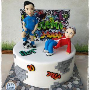 עוגת רקדן + כדורגל